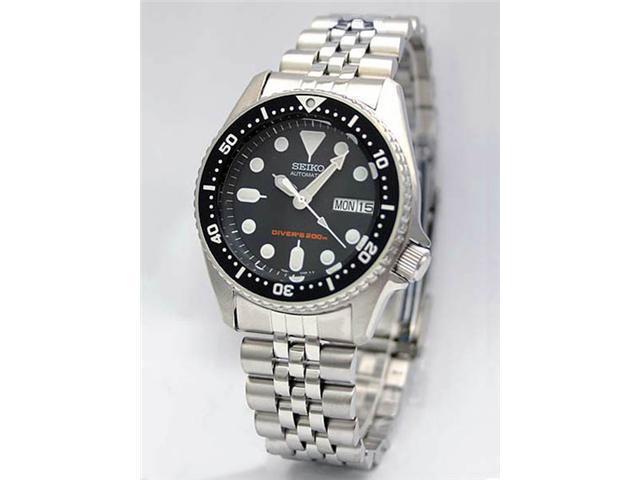 Seiko Black Automatic Dive Watch SKX013K2
