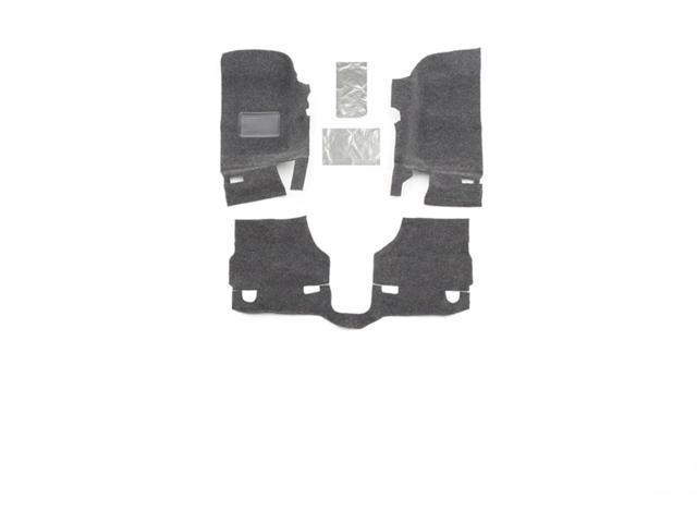 BedRug BRJK07F2 BedRug Floor Kit Fits 07-10 Wrangler (JK)