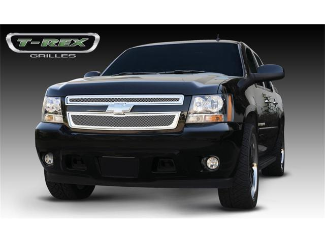 T-REX 2007-2012 Chevrolet Tahoe, Suburban, Avalanche Upper Class Polished Stainless Mesh Grille - 2 Pc Style POLISHED 54051