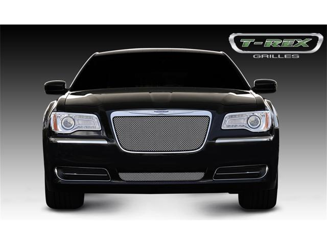 T-REX 2011-2011 Chrysler 300 (All) Sport Series Formed Mesh Grille - Stainless Steel - Triple Chrome Plated - Installs into OE / factory chrome grille surround CHROME 44433