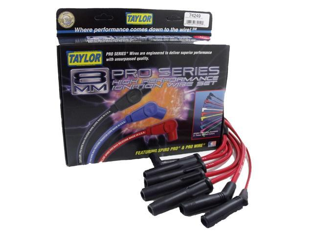 Taylor Cable 74249 8mm Spiro Pro; Ignition Wire Set