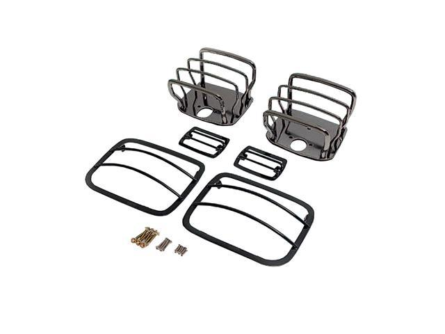 Rugged Ridge 12496.03 8-Piece Euro Guard Light Kit, Black, 07-14 Jeep Wrangler