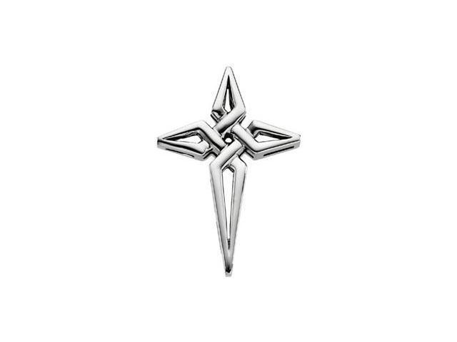 Sterling Silver Cross Pendant  2.5