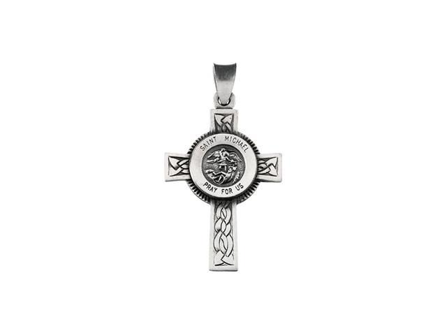Sterling Silver St Michael Cross 28.5X20.75