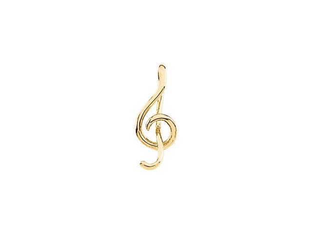 14K Yellow Gold Music Symbol Pendant