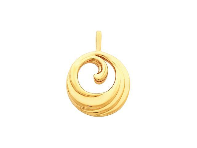 14K Yellow Gold Metal Fashion Pendant    6.7