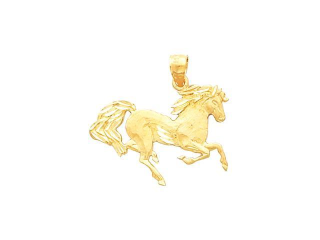 14K Yellow Gold Horse Pendant