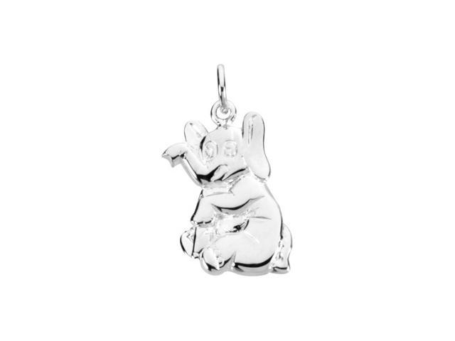 Sterling Silver Elephant Charm8. 0 0X3. 5 0 Mm