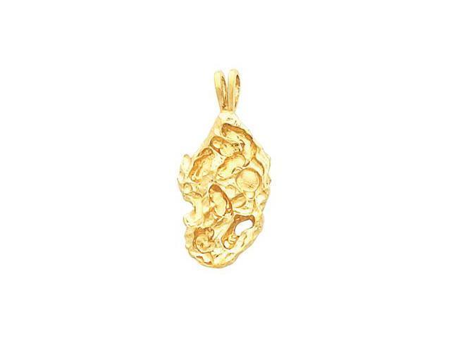 14K Yellow Gold Nugget Pendant  4.4