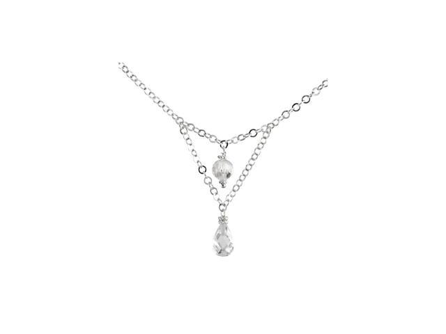 Sterling Silver Cz Necklace 16.00 Inch