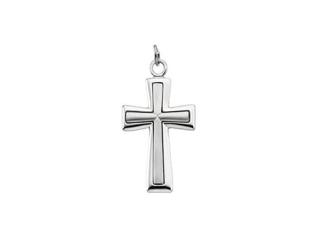 Sterling Silver Cross 39.00 X 21.75 Mm