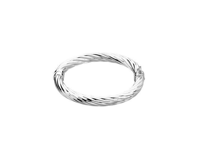Sterling Silver Sterling Silver Hinged Bangle 0 7. 0 0 Inch
