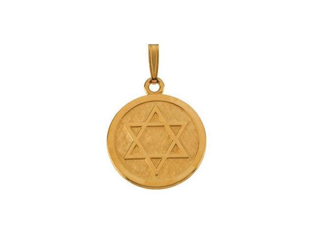 14K Yellow Gold Star Of David Pendant  5.5