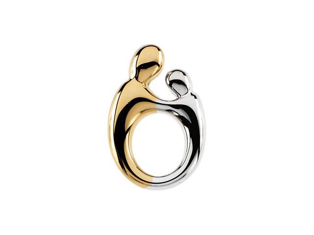 14K Yellow Gold Two Tone Sm Mother & Child Pendant