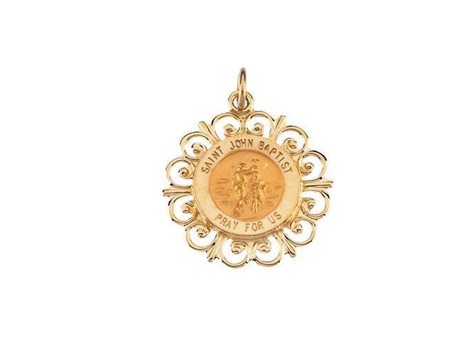 14K Yellow Gold Round St John The Bptst Wchld Pd Md