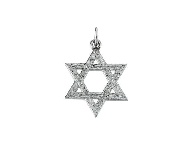 Sterling Silver Star Of David Pendant  2.3
