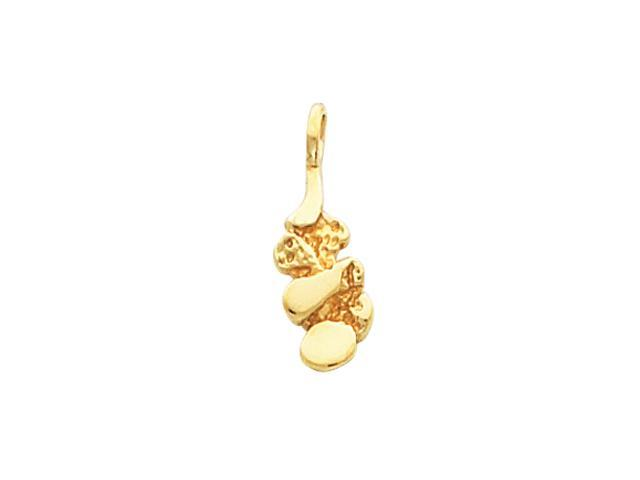 14K Yellow Gold Nugget Pendant