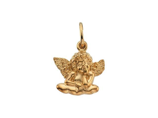 14K Yellow Gold Sitting Angel Pendant