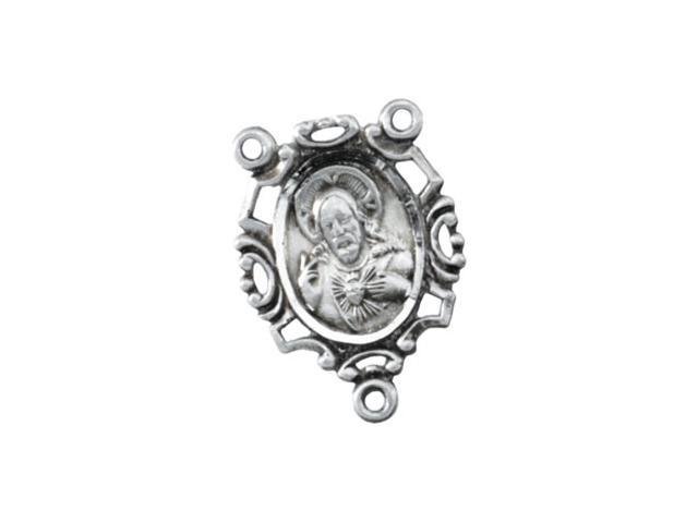 Sterling Silver Rosary Center Only 2 5. 5 0X9. 0 0 Mm