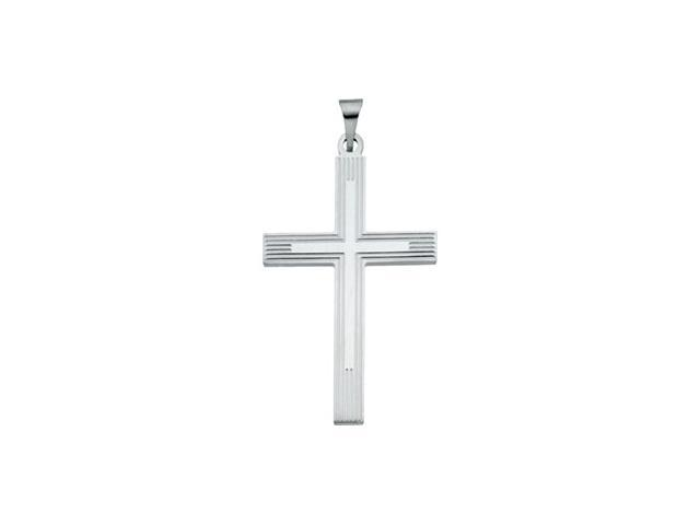 Sterling Silver Extra Heavy Cross Pendant  3.2