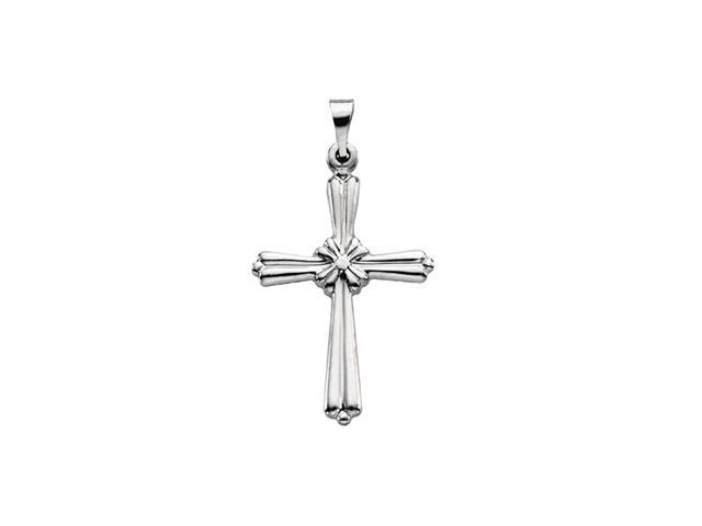 Platinum Cross Pendant  2.5