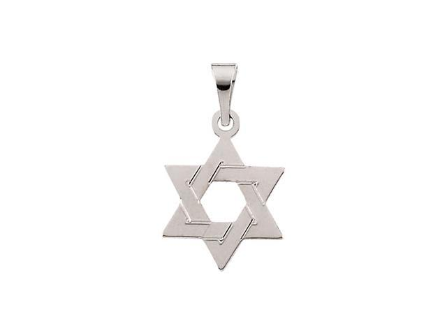 14K Yellow Gold Star Of David Pendant
