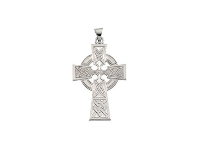 14K Yellow Gold Large Celtic Cross Pendant   4