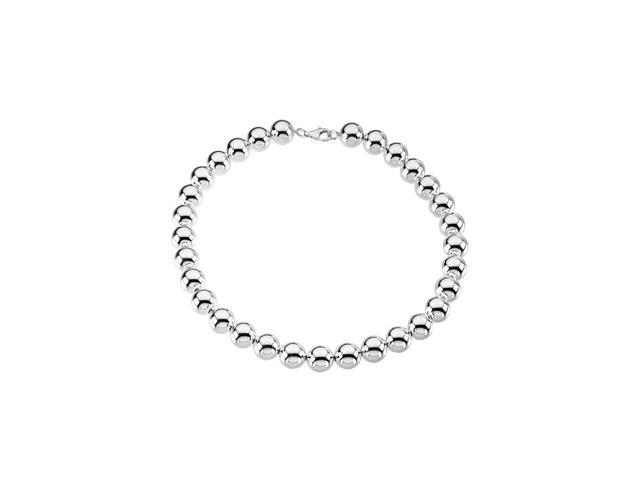 Sterling Silver 1400 Mm Bead Necklace 08.00 Inch