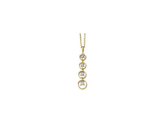 14K Yellow Gold Journey Diamond Pendant