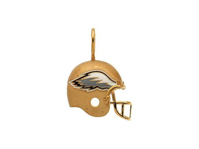 14K Yellow Gold Philadelphia Eagles Helmet Pendant W/Enamel  2.7