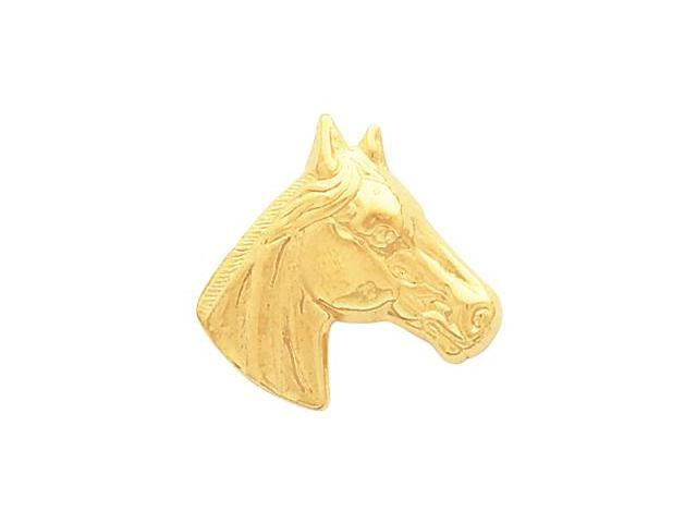 14K Yellow Gold Horse Head Pendant  3.3
