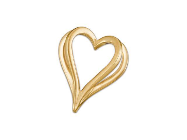 14K Yellow Gold Metal Fashion Heart Pendant  2.3