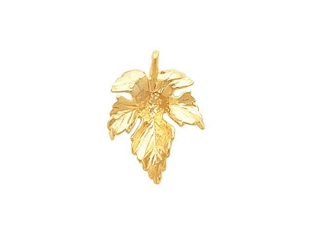 14K Yellow Gold Leaf Pendant  2.4