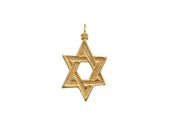 14K Yellow Gold Star Of David 23.75X17.50
