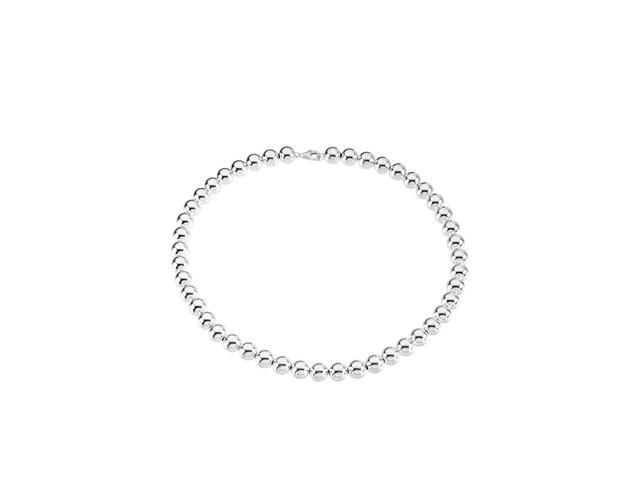 Sterling Silver 1000 Mm Bead Necklace 16.00 Inch