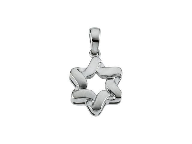 Sterling Silver Star Of David Pendant  5.5
