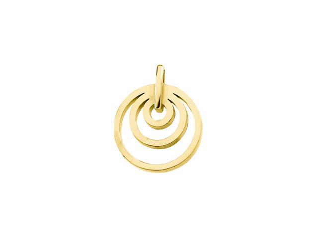 14K Yellow Gold Metal Fashion Circle Pendant  3.9