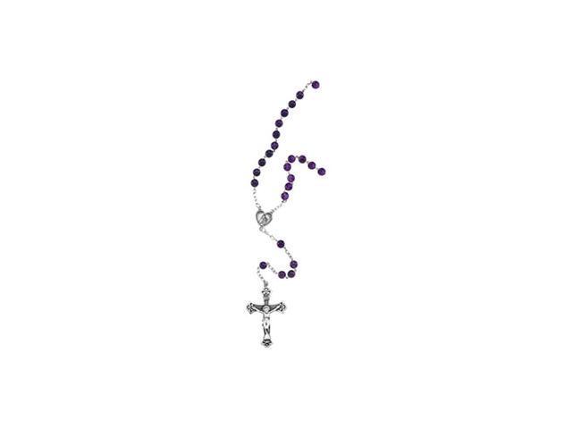 Sterling Silver Amethyst Rosary