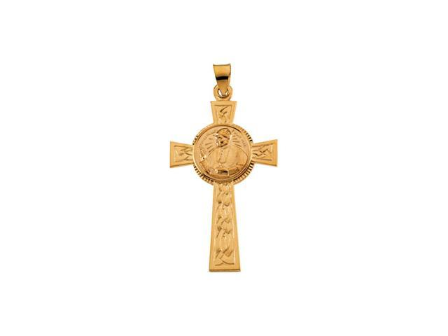 14K Yellow Gold Pope John Paul Ii Cross 39.75X24.75