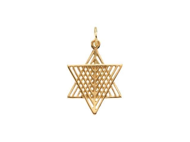 14K Yellow Gold Star Of David 18.50X16.50 Mm