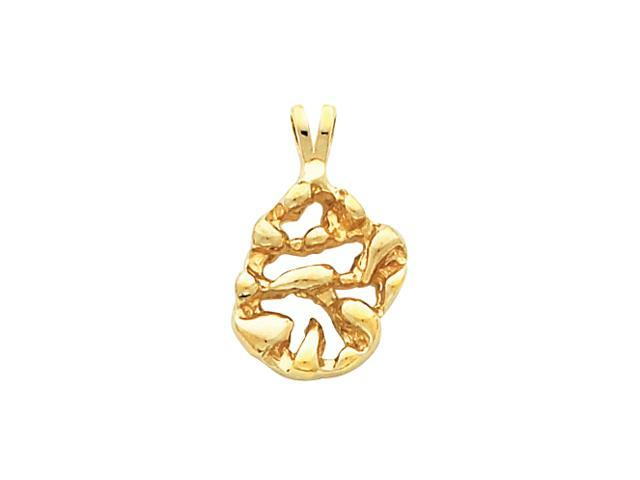 14K Yellow Gold Nugget Pendant  3