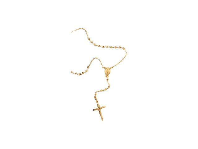 14K Yellow Gold Rosary Necklace 16.00 Inch