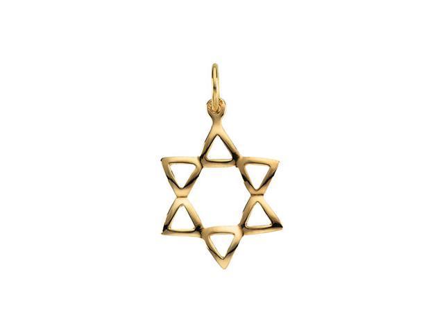 14K Yellow Gold Star Of David 19.25X16.75 Mm