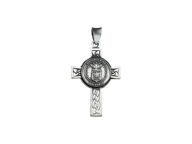 14K Yellow Gold Us Air Force Cross 28.50X20.75Mm