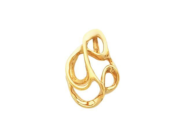 14K Yellow Gold Metal Fashion Pendant W/Hidden Bail  2.6