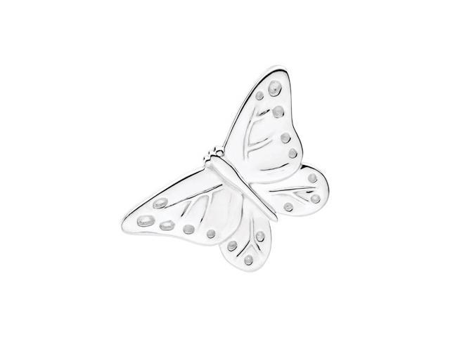 Sterling Silver The Babysitter Butterfly Brooc6. 2 5X 2 7. 0 0 Mm