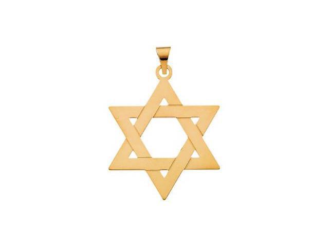 14K Yellow Gold Star Of David Pendant    2.9