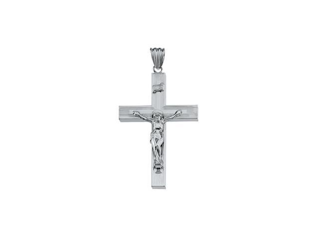 Sterling Silver Hollow Crucifix 57.75X38.50 Mm