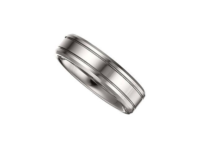 6.3MM Dura Tungsten Grooved Band Size 9