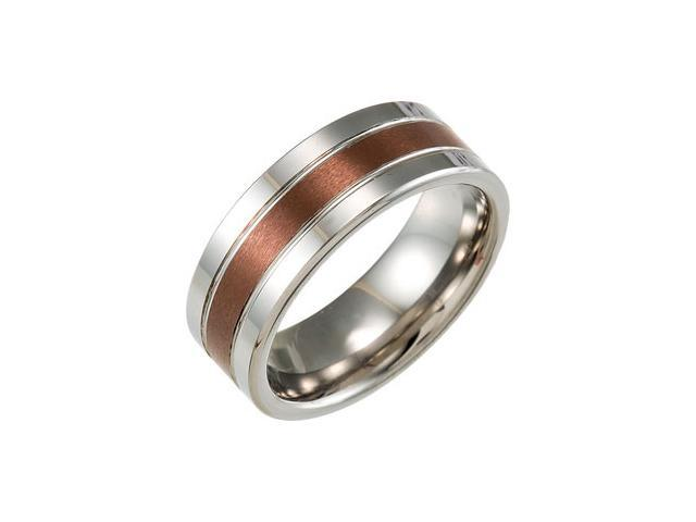 8.3MM Dura Tungsten Band With Chocolate IMMersion Plated Center Size 7.5